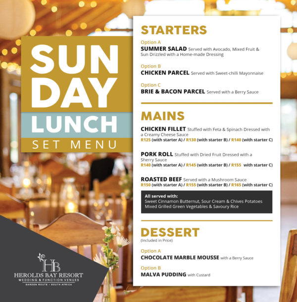 28.01.2018 Sunday Lunch Menu2