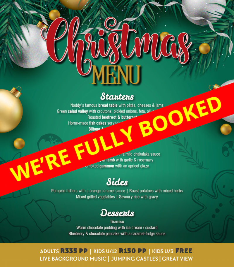 Xmas Lunch Menu Fully Booked